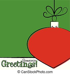 Bright typographic Christmas card in vector format.