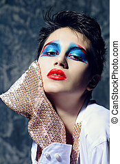 bright unusual make-up