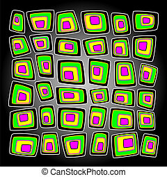 Bright vector background with multicolored squares