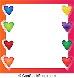 Bright vector frame - in love
