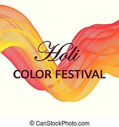 Bright vector illustration for a color festival Holi.