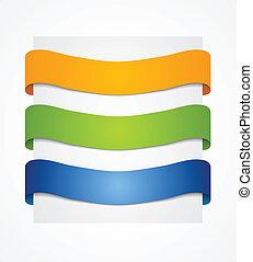 Bright vector ribbons