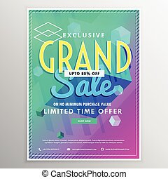 bright vector sale banner design template
