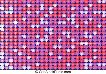 violet background with hearts