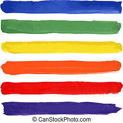 Bright watercolor set - Vector Illustration
