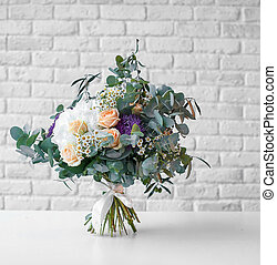 bright wedding bouquet - the bright wedding bouquet on light...
