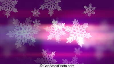 """""""Bright white winter snowflakes on pink and violet"""" -..."""