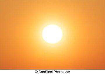 Bright winter sun, supplying powerful renewable energy