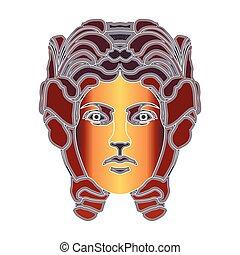 Bright woman portrait, zodiac Virgo sign