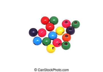 Bright wooden beads.