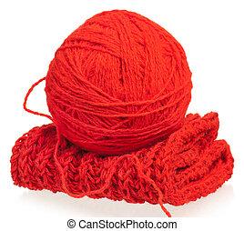 Bright woolen thread