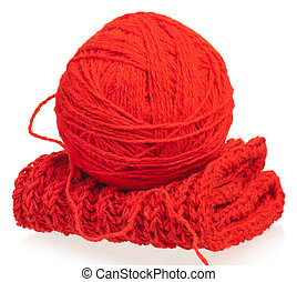 Bright woolen thread