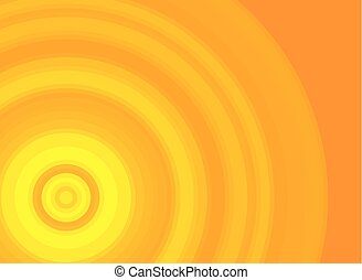 Bright yellow and orange vector background with a circle pattern