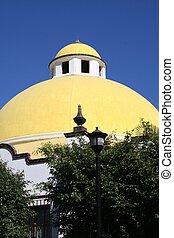Bright Yellow Dome in Mexico