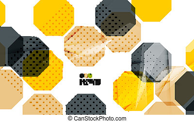 Bright yellow geometric modern design template
