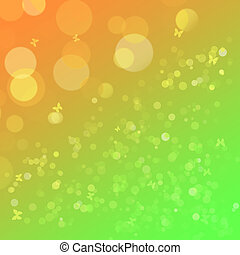 Bright yellow-green background with a bokeh for design
