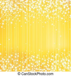 Bright Yellow Holiday Background with Stars
