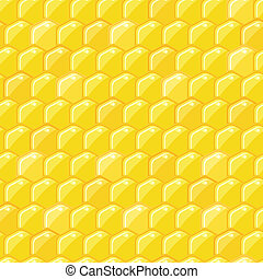 Bright Yellow Honey Comb Seamless Pattern