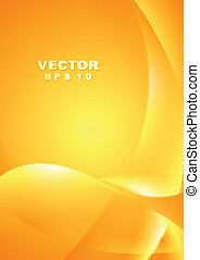 Bright yellow orange waves background