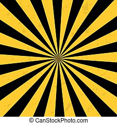Bright yellow rays background. Comics in the style of pop art. Vector eps 10.