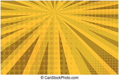 Bright yellow striped retro comic background