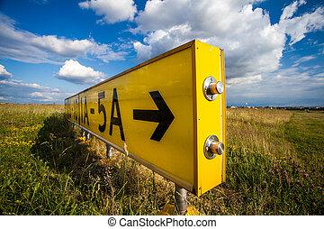 traffic sign - bright yellow traffic sign