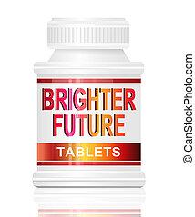 brighter, concept., futuro