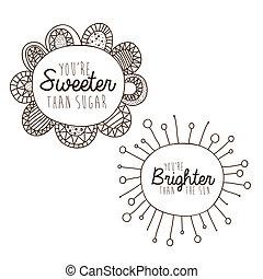 brighter, desenho, sweeter