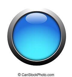 brightly blue button on a white background