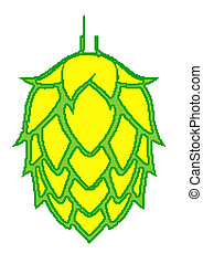 Beer Hop - Brightly colored Beer Hop Vector