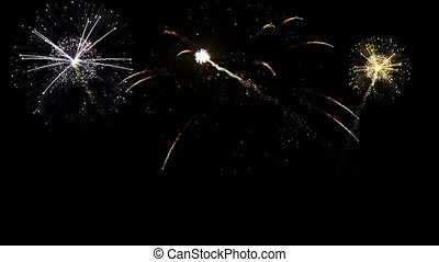 Brightly colorful fireworks for events on dark background