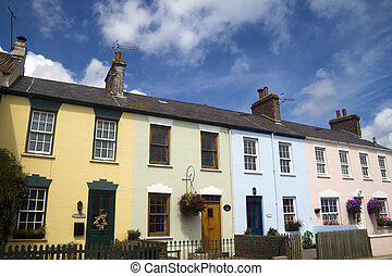 Brightly coloured houses