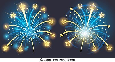 Brightly Fireworks - Vector Brightly Fireworks with stars...
