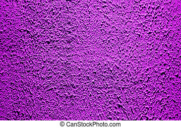Brightly lit surface covered with bright purple plaster.
