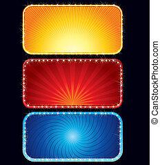 Brightly Neon Sign - Brightly vector colored neon billboards...