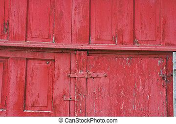 brightly painted doors