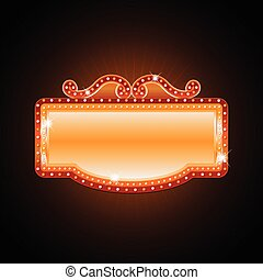 Brightly theater glowing retro cinema neon sign - Brightly...
