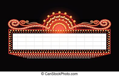 Brightly theater glowing retro cinema neon sign - Brightly ...