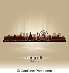 Brighton England skyline city silhouette