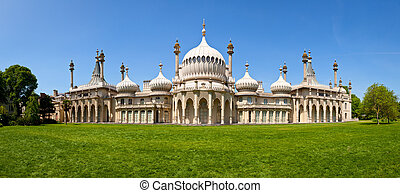 Panoramic view of the Royal Pavilion in Brighton, England