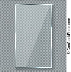 brightreflections, 反射, effect., 手ざわり, プラスチック, ガラス窓, ベクトル, ...