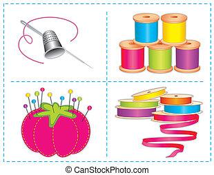 brights, acessórios, cosendo