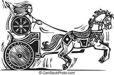 brigid, chariot