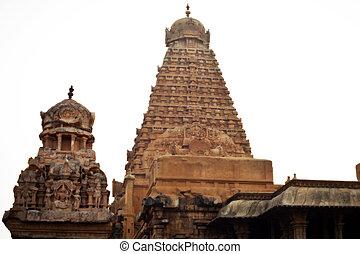 Brihadeeswarar Temple in Thanjavur, Tamil Nadu, India. One ...