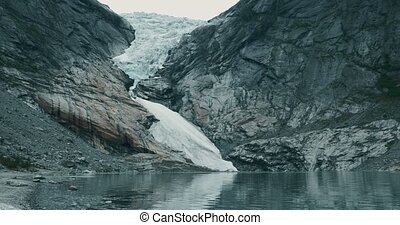 Brikdalsbreen Glacier, Norway - Graded and stabilized...