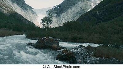 Brikdalsbreen Glacier, Norway - Graded and stabilized...