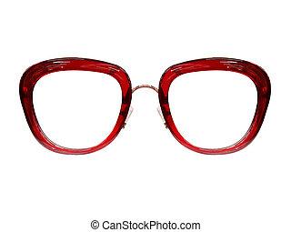 bril op, witte , achtergrond., mode, black., black , sunglasses., spectacles., foto
