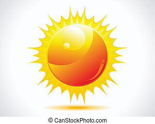 brilhante, ícone, abstratos, sol