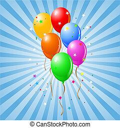 brilhante, balões