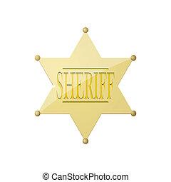 brilhante, emblema sheriff